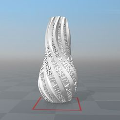 image.jpg Download STL file CUSTOMIZABLE VASE IBARAKEL JESSICA • 3D printable object, Ibarakel