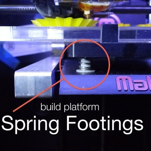 BP_Spring_Footing_display_large.jpg Download free STL file Customizable Spring Footings for Replicator 2/2X Build Plate • 3D printable model, Gaenarra