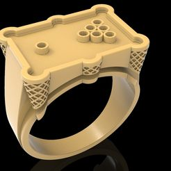1.jpg Download free STL file Billiard ring jewelry ring 3D print model • Template to 3D print, Cadagency