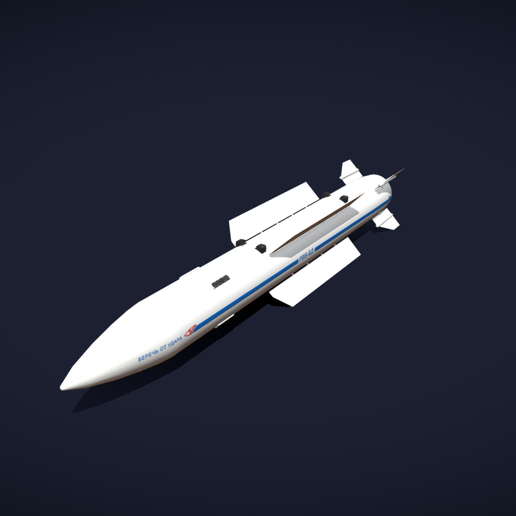 09a.png Download 3DS file Vympel R37 Missile • Model to 3D print, SimonTGriffiths