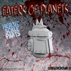 EoP_helm_plain_spikes.png Download STL file Eaters of Planets Plain Helm with spikes • 3D printable template, GoblinCrown