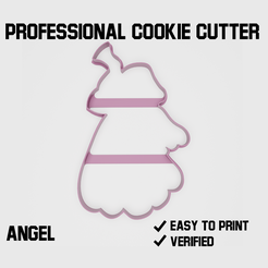 Angel cookie cutter1.png Download STL file Angel Cookie cutter • 3D printer object, Cookiecutters