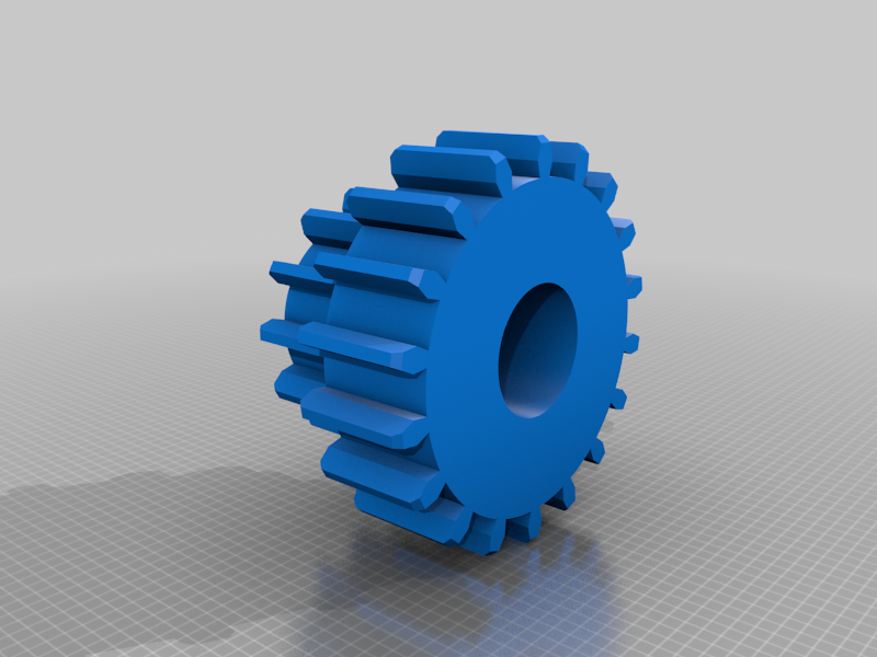 Gear_double_layered_v1.png Download free STL file Pieza de engranaje • 3D printing object, blin