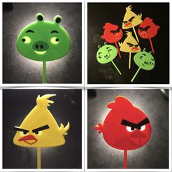 Angrybirdies.jpg Download STL file Cake toppers angrybirds • Template to 3D print, serial_print3r