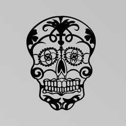 Captura.JPG Download STL file Skull Day of the Dead • 3D printing object, Igbras