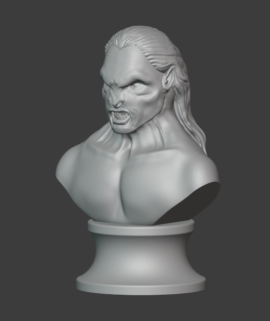 Lurtz 12.PNG Télécharger fichier STL The Uruk-Hai Lurtz from Lord of the rings movie for 3D printing in STL • Plan pour imprimante 3D, Macronaute