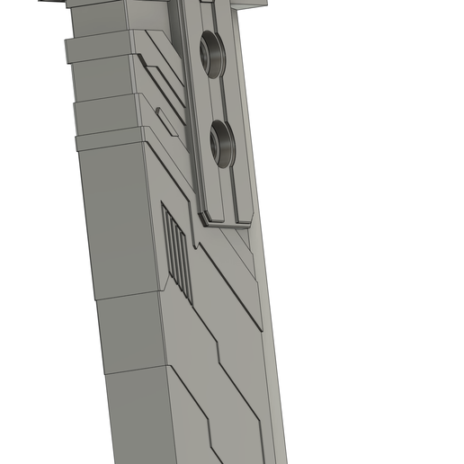 Remake - Buster Sword - Side Detail View.png Download STL file Buster Sword - Final Fantasy 7 Remake • 3D printer model, InfidelProps