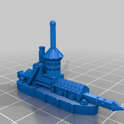 Stumpyrammership.png Download free STL file Stumpy Rammer Ship Proxy ship • Model to 3D print, barnEbiss2