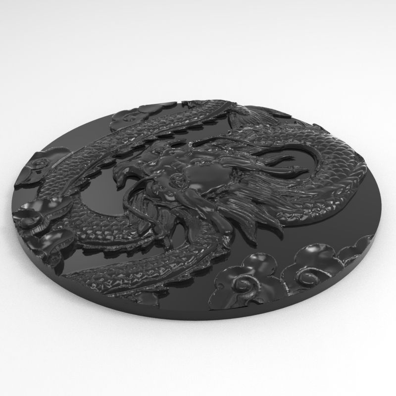 untitled.47.jpg Download OBJ file Chinese dragon relief disc • 3D printing template, wangyujuegm