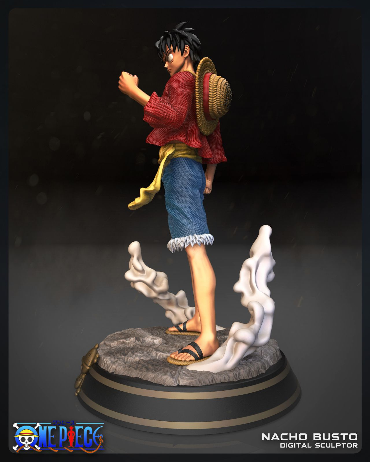 03luffy vertical03.jpg Download STL file Luffy - One Piece for 3d print model • 3D printing design, Ignacioabusto