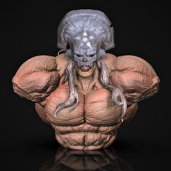 Odium-bust.3941.jpg Download STL file Odium Court of The Dead bust • 3D printing object, M3dStudios1