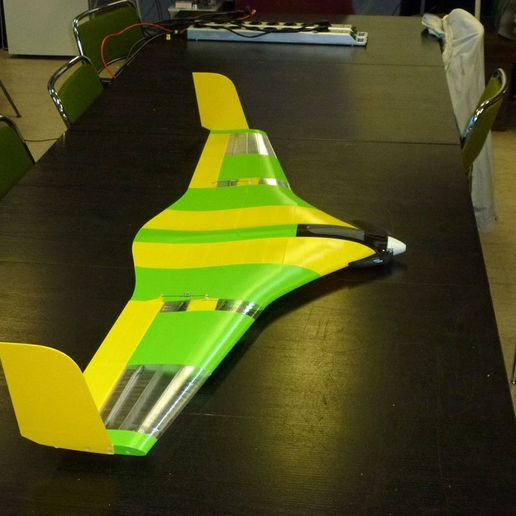 ace737809f87097eab5cd315d2afd92b_display_large.jpg Download free STL file Flying Wing Buratiny • 3D printing template, wersy