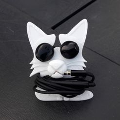 20190219_144713.jpg Download STL file Headphone roll-up cat • Object to 3D print, Cocoverte