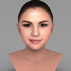 untitled.72.jpg Download STL file Selena Gomez bust ready for full color 3D printing • 3D printer object, PrintedReality