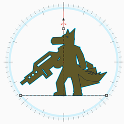 Canid Rifle Case.png Download STL file Canid With Rifle And Case Meeple • Model to 3D print, Ellie_Valkyrie