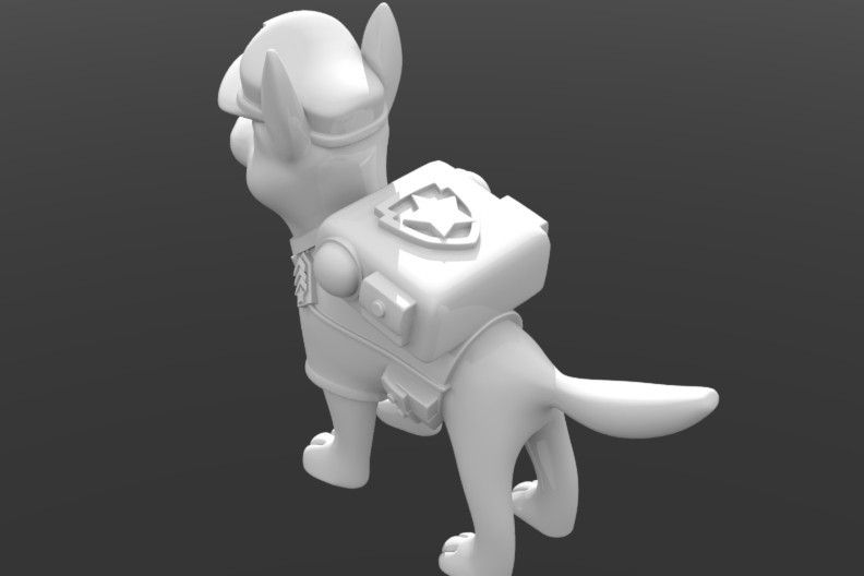chase_paw_patrol_04.JPG Download STL file Chase Paw Patrol • 3D printable object, tridimagina
