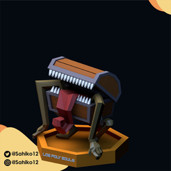 LOW POLY SOULS insta-05.png Download STL file Low Poly Souls - Mimic • 3D printable design, Sahiko12