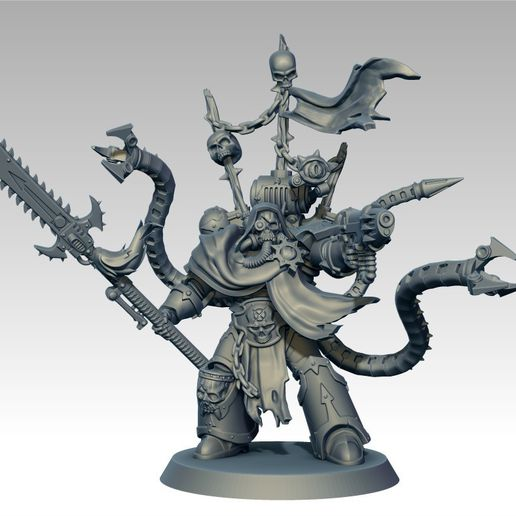 ZBrush_3.jpg Download free STL file Chaos Arch Lord Disco Content • 3D printable model, jimsbeanz