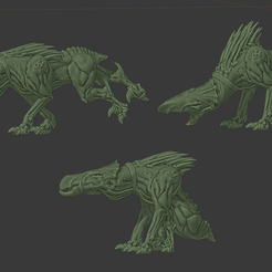 HoundsNew.png Download free STL file Additional Cannibal Chicken Companion Ouch Puppies • 3D print object, FelixTheCrazy