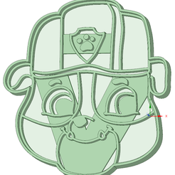 Rubble - copia.png Download STL file Rubble Paw Patrol cookie cutter • 3D printer template, osval74
