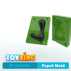 PspotMold.png Download STL file Pspot  mold - Prostate • 3D printable template, Toyking