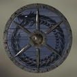 A.png Download OBJ file Viking Round Shield • Design to 3D print, SimonTGriffiths