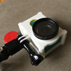 IMG_0029.jpg Download free STL file Yi cage with lens filter adapter • Model to 3D print, Suraki