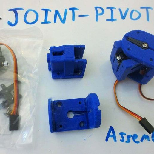 IMG_7485.JPG Download free STL file Pivoting Servo Joint Module *Tiny_CNC_Collection • 3D printing model, mechengineermike