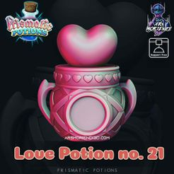 Love-Potion-21---Splash.jpg Download free STL file Love Potion no. 21 - Prismatic Potions • 3D print template, ArsMoriendi3D