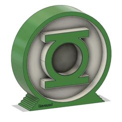 1-LamparaLinterna.jpg Download STL file Green lantern LED lamp - Green Lantern LED lamp • 3D printable template, citocami