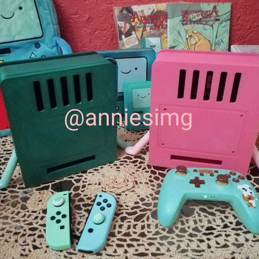 WhatsApp Image 2020-11-28 at 10.05.59 PM.jpeg Download STL file Bmo nintendo switch stand • 3D printer model, ana_paty_ss