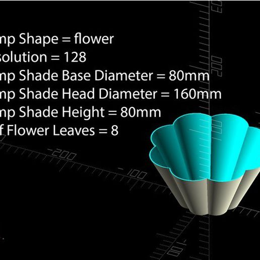 98db32651f1a8ab5ae129227660c73f4_preview_featured.jpg Download free STL file Customizable Lamp Shade • 3D printing object, MightyNozzle
