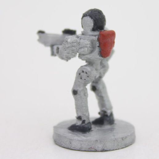 robot back.jpg Download free STL file Robot with gun (18mm scale) • 3D printing template, Steyrc