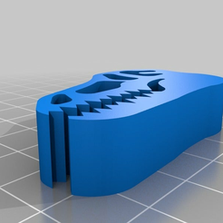 Tyrannosaurus_Chip_Clip.png Download free STL file Tyrannosaurus Chip Clip • 3D printer design, Scott64