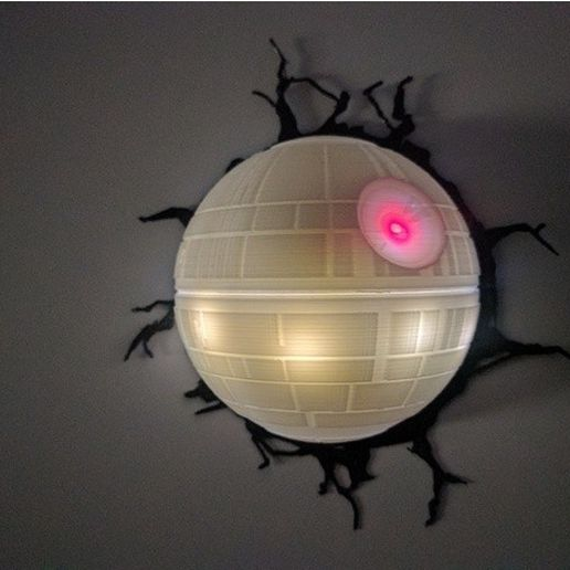 5e1571db9184211bf678ed0ae8f001b3_preview_featured.jpg Download free STL file Deathstar lamp • Template to 3D print, mashirito