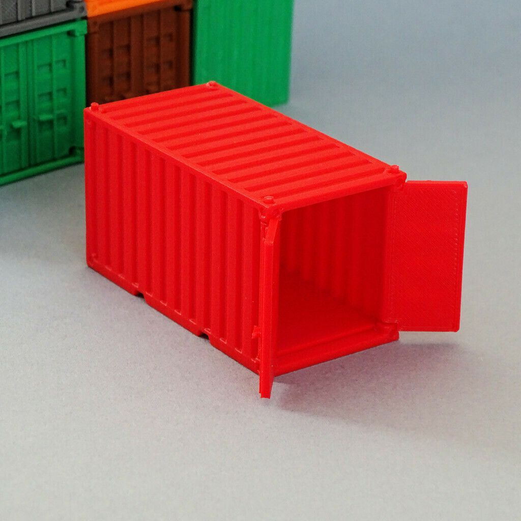 Preview4.JPG Download free file Shipping Container - toy for kids or pen holder • 3D printable model, Printed-Toys