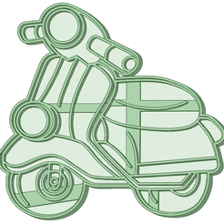 Vespa_e.png Download STL file Vespa cookie cutter • Object to 3D print, osval74