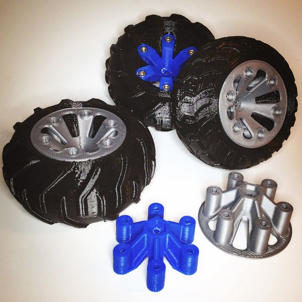 6.png Download free STL file Set of wheels for OpenRC Truggy • Design to 3D print, Palmiga