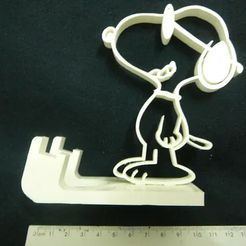 D_NQ_NP_632581-MLB32760624143_112019-O.jpg Download STL file Cell Phone Support Snoopy - Stand - Suporte celular • 3D printing model, fabiomingori