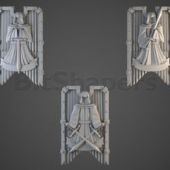 dark_angels.RGB_color.0004.jpg Download OBJ file Angels of Hell Tower Shields • 3D printing object, BitShapers