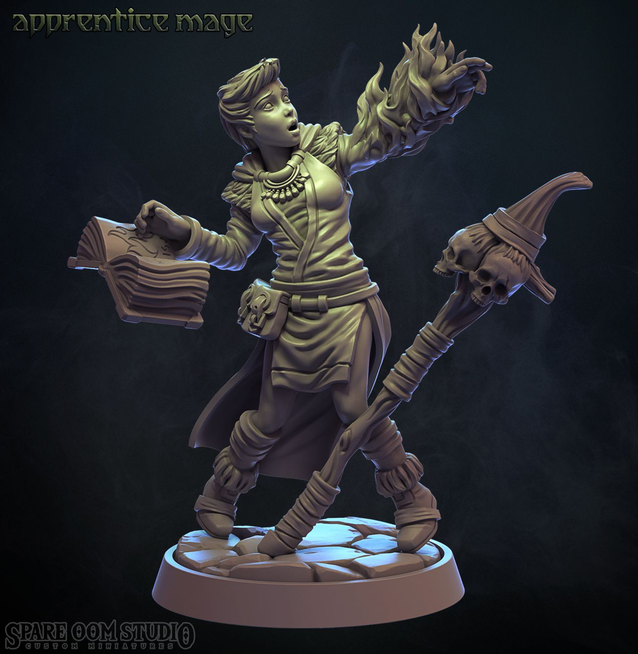 App-mage.jpg Download STL file Apprentice Mage 32mm (Pre-supported) • 3D print object, Spare_Oom_Studio