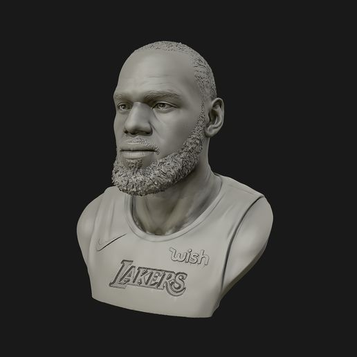15.jpg Download OBJ file Lebron James in Lakers jersey Ready to 3D print • Design to 3D print, selfix