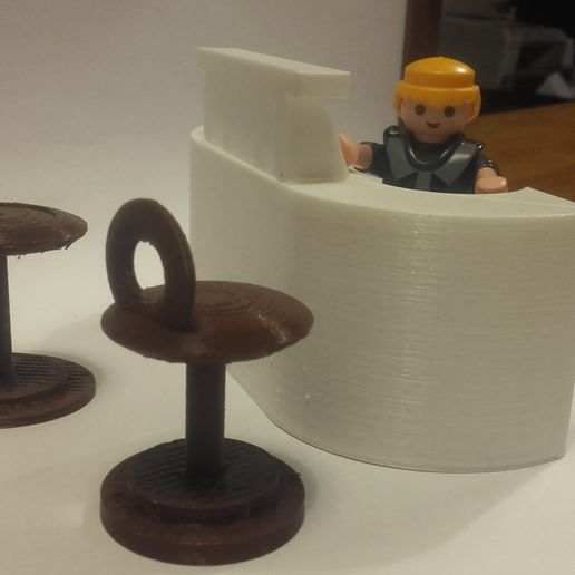 20161119_180821.jpg Download free STL file Stool and bar for playmobil • 3D printing object, catf3d