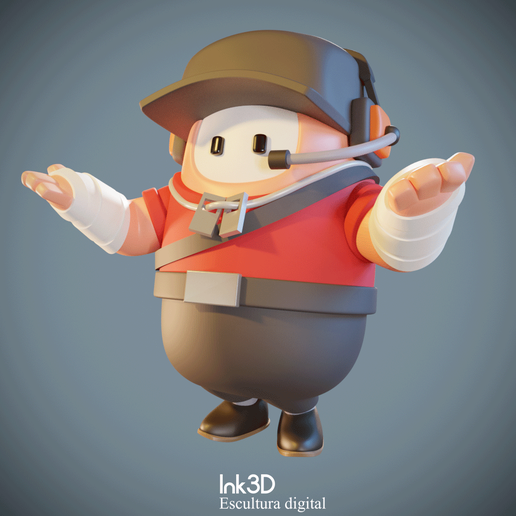 119969362_3292358837519520_352052792567804926_o.png Download free STL file Fall guys Scout • Design to 3D print, Ink3D