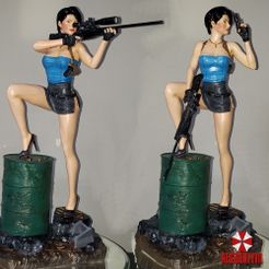 Image1.jpg Download STL file Resident Jill - by SPARX • Model to 3D print, SparxBM