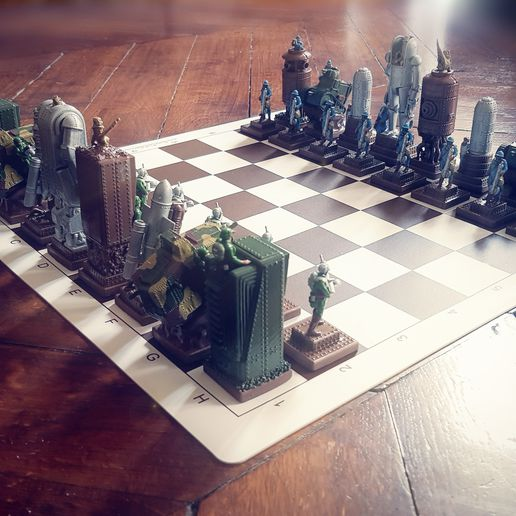Steam_Chess_A__00005.jpg Download STL file Steampunk chess game. • 3D printer design, Alphonse_Marcel