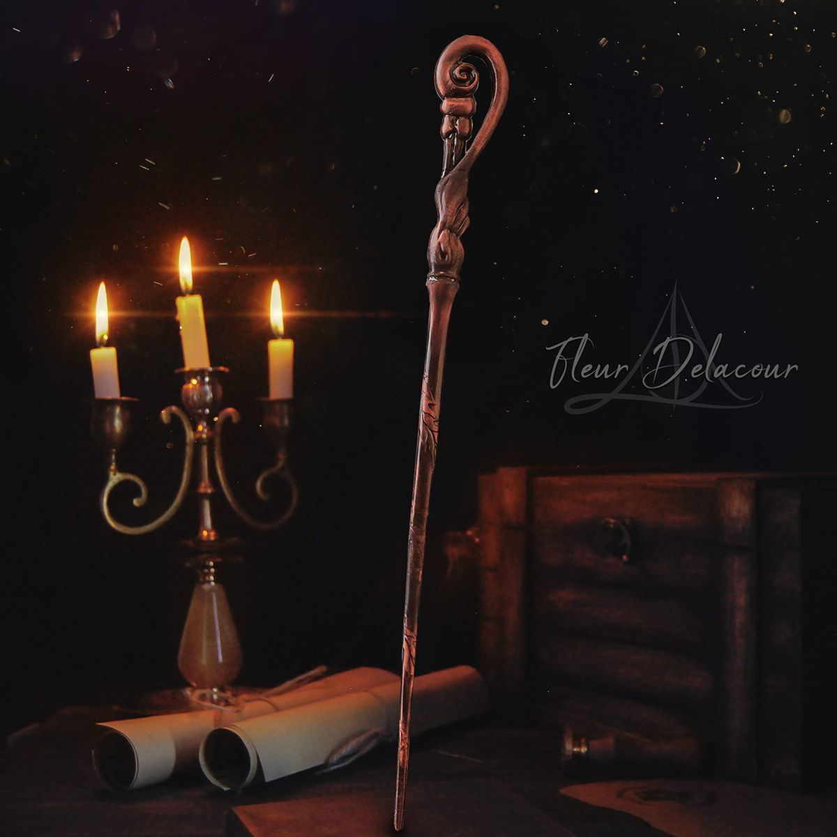 Fleur.jpg Download OBJ file Triwizard Tournament Wand Collection - Harry Potter • Object to 3D print, tolgaaxu