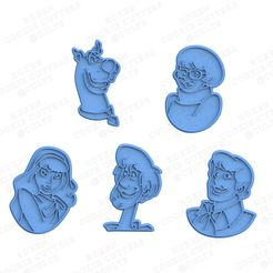 1.jpg Download STL file Scooby Doo cookie cutter set of 5 • 3D print model, roxengames