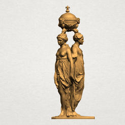 Sculpture of Three Grace (iii) A01.png Download free STL file Sculpture of Three Grace 03 • 3D printable template, GeorgesNikkei