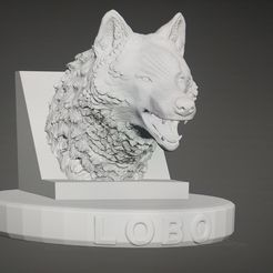 20200903_221034.jpg Download STL file wolfhead with support • 3D print object, franlocopero